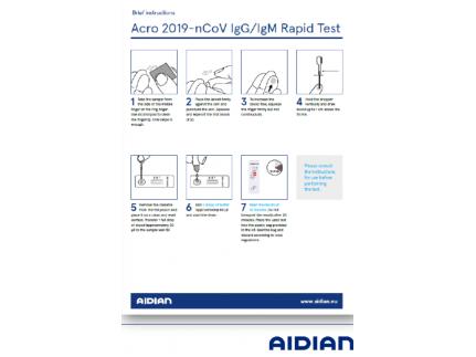 Бърз IgG/IgM за Новия коронавирус COVID-19